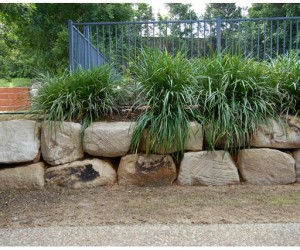 Cleaned Up Decorative Retaining Wall